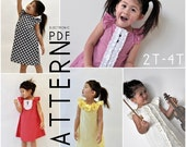 2T, 3T, 4T - The Charissa Dress - Downloadable PDF Pattern and Instructions