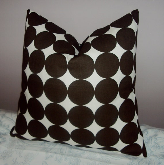 18 Inch Mod Dwell Studio Brown Dot Pillow Cover - Free Shipping
