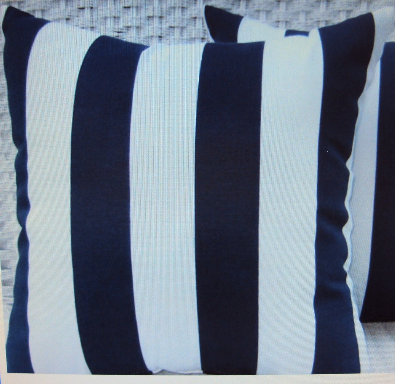 Buy Navy and White Striped Pillows from Bed Bath & Beyond