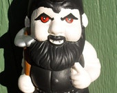 Vampire Ceramic Garden Gnome. He will hoe your garden but only at night...