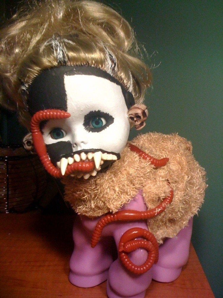 Dirty Diana Half Woman Half Horse Doll Worm Lover By
