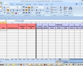 Valentines Day Sale - Expenses Tracking Spreadsheet