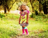 Yellow Peasant Dress Childrens