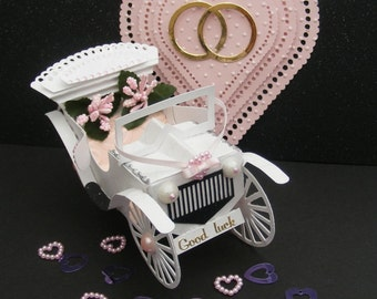 Digital Cutting Template Wedding Car And Box, All file formats