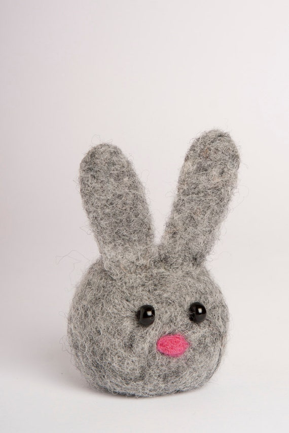 modflowers: needle felted bunny rabbit by LigaKandele
