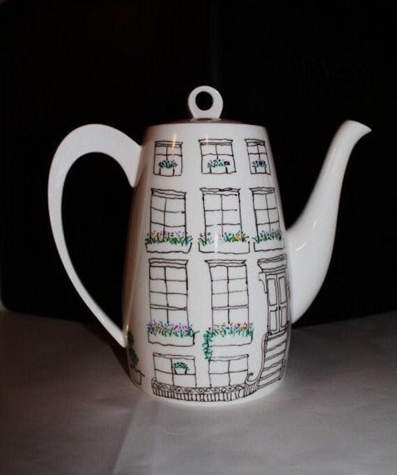 Coffee pot-  Brooklyn Brownstone Teapot or Coffee Carafe- from Urban Antix-