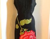 Reserved....Vintage 1960's Wiggle Dress, size medium/ large.