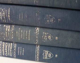 Vintage Books . .  Instant Blue Collection . . Harvard Classics . Three Volumes .