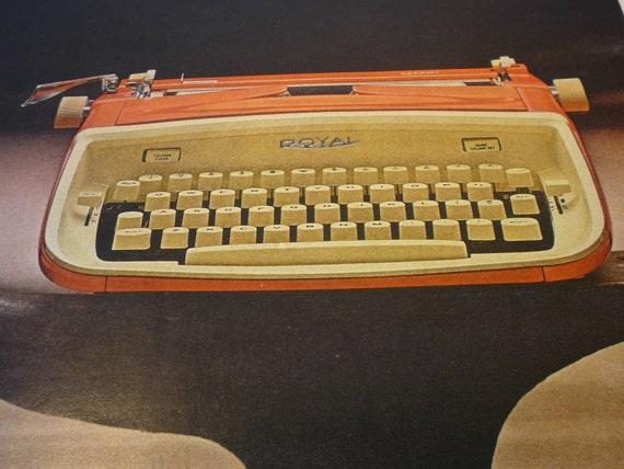 Vintage Advertisement  -  Royal Portable Typewriter - 1960s Mad Men - original ad