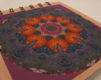Notepad with starfish tidepool photographic mandala