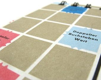 German Scrabble board notepad - large