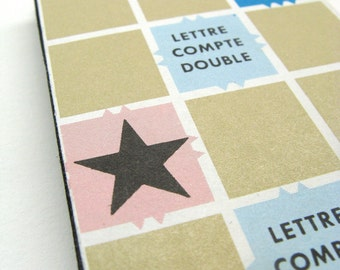 French Scrabble board notepad - small