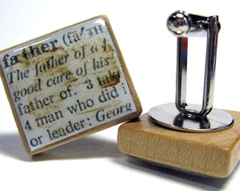 Scrabble tile cuff links - choose from any of my Scrabble tile designs