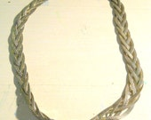 Vintage 18 inch Silver Braided Necklace