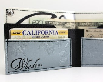 70's Vintage Floral Vinyl Wallet - Hand numbered