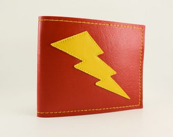 Lightning Bolt Wallet in Red and Yellow - Takin Care of Business