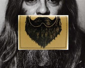 On Sale - Golden Beard - Weird Beard Credit Card Mini Wallet