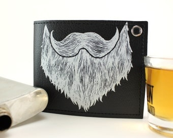 On Sale - Black Beard Billfold Wallet - Get Weird - Where's the Party