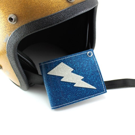 Blue Metal Flake Lightning Bolt Wallet - TCB'n All Day Everyday
