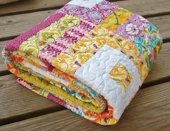 Baby Quilt -Toddler or Throw - Central Park