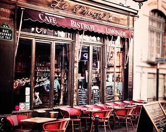 Paris Decor- Paris Photography- Home Decor- Wall Art-    Paris France, Bistro Art, Cafe Photography- 8x8- The Bistro