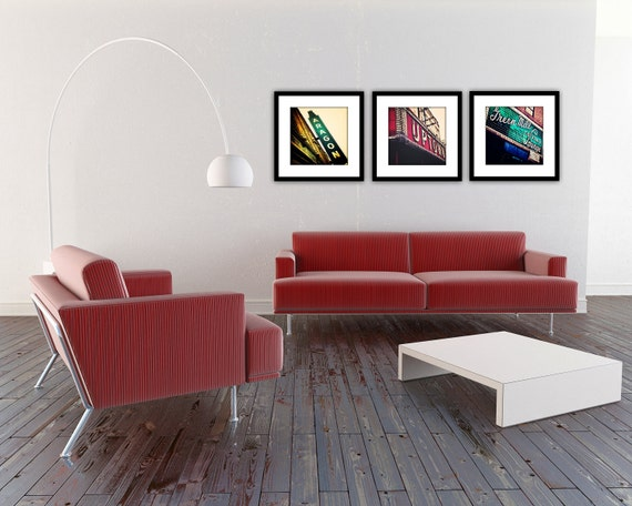 chicago print set uptown series chicago by traceycapone on etsy. Black Bedroom Furniture Sets. Home Design Ideas