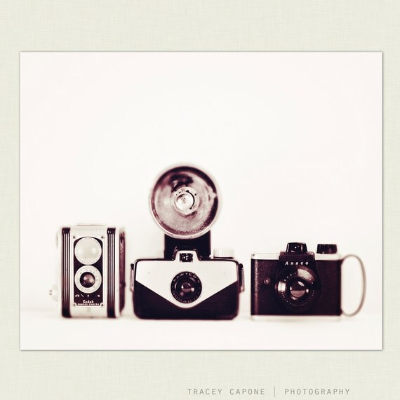Vintage Camera Wall Decor Retro Inspired By TraceyCapone
