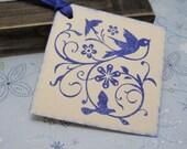 Blue Bird vintage inspired tags - set of 12 by Just Scraps N Things