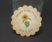 CUSTOM Round Sunflower tags  - RESERVED