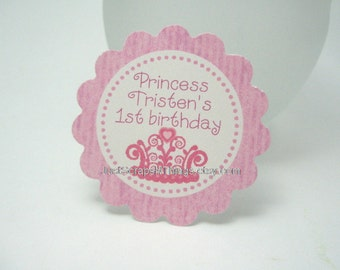 Princess party favor tags by Just Scraps N' Things