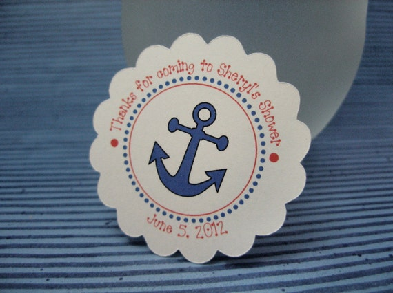 Baby boy shower tags -  Nautical -  by Just Scraps N Things