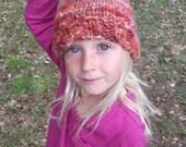 Handknit Wooly Elven Hat - Wild Rose