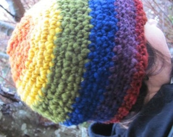 SALE-Warm Wooly Rainbow Power Hat