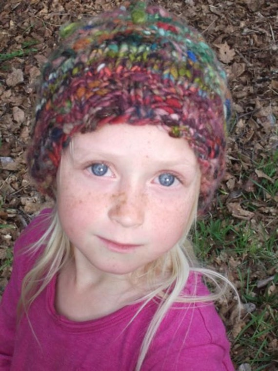 Handknit Wooly Elven Hat - Wood Gnome