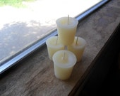 Vanilla bean scented , votive candle, off white candle (1)