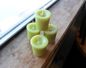 Bayberry scented, votive candle, green candle (1)