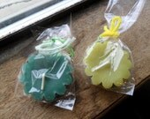 Candle tarts, floating candles, jelly bean scented, bayberry scented, green candles (2)