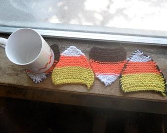 Candy corn coaster, halloween coaster, candy coaster, orange coaster (1)