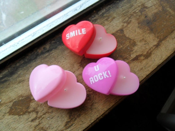 conversation heart candle, conversation heart, heart candle, container candle (1)