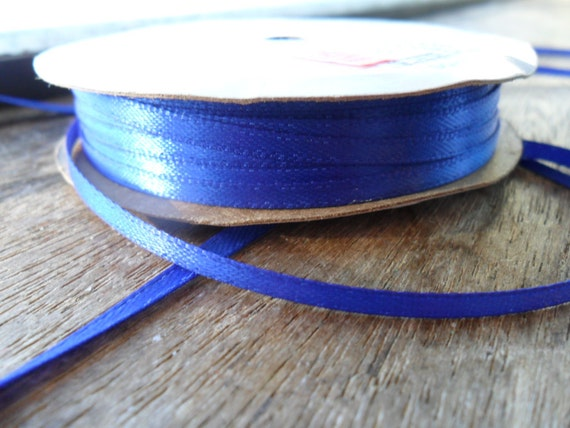 satin Ribbon, 1/8 ribbon, dark blue ribbon, 1 yard (1)