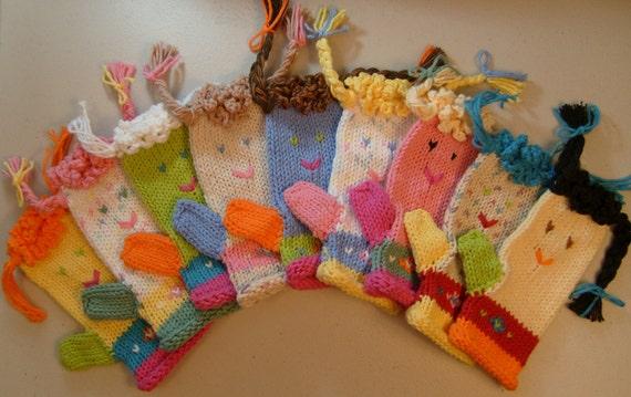 Play Pal Mittens HAND Knitting Pattern PDF