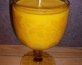 Amaretto Nog Soywax Candle in Beautiful Goblet