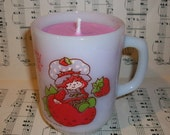 Strawberry Shortcake Soywax Candle in Strawberry Shortcake Mug