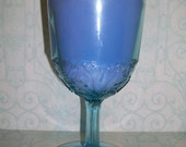 English Garden Soywax Candle in Light Blue Goblet