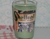 RESERVED FOR LHP    Peppermint and Eucalyptus Soywax Candle in Upcycled Glass