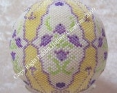 Beaded Globe Thistle Ball or Purse Pattern - Digital Download