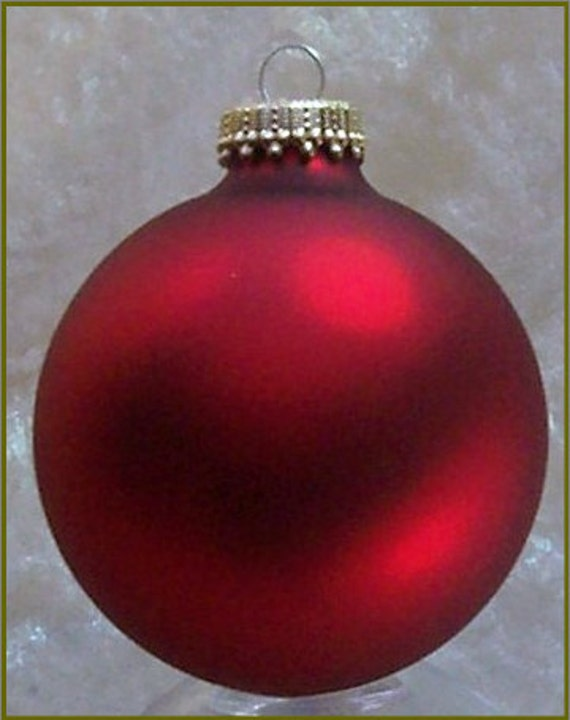 Red Velvet-- -- Glass Ball Ornament -- 1 or 8 count -- Christmas by Krebs -- Ornament to Decorate