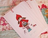 Little Red Riding Hood Gift Tags - Set of 15