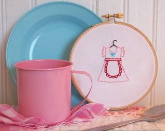 Apron Dress Embroidery PATTERN
