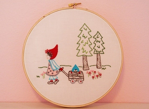 Woodland Walk Embroidery PATTERN